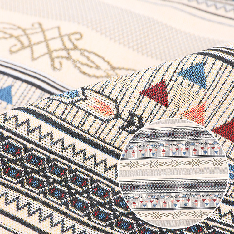 SONGFA Imitation cashmere with gold thread plain yarn dyed jacquard fabric national style women's J