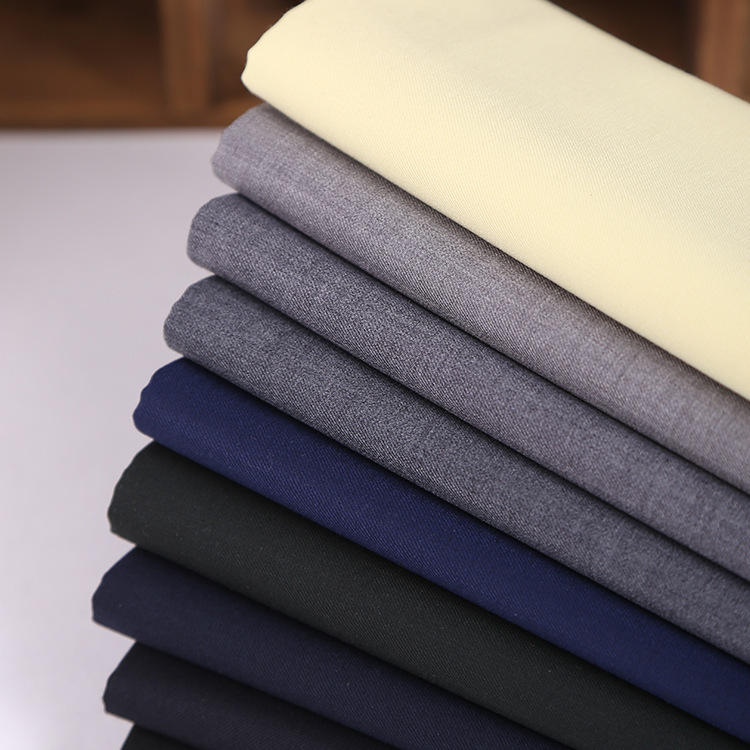TR twill serge suit fabric polyester cotton blended pocket cloth suit tooling uniform fabric