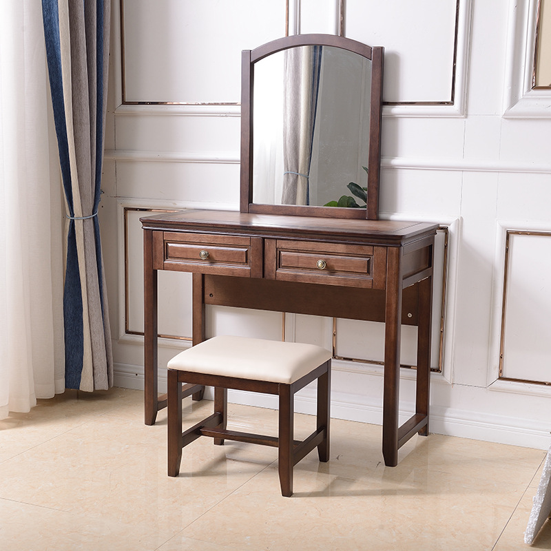 LUNGE American style solid wood dressing table post modern simple dressing table multifunctional dre