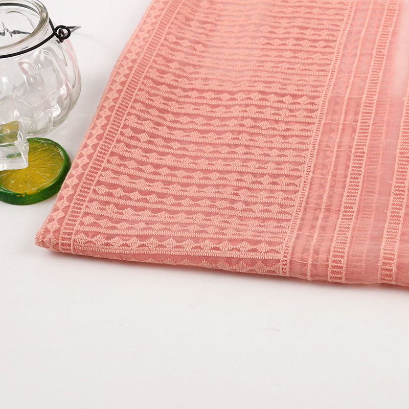 WEILAI Organza embroidery fabric curtain Organza embroidery cotton bottom embroidery machine embroid