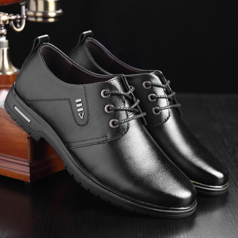 Autumn and winter 2020 new men's shoes men's business casual shoes office worker men's shoes leat