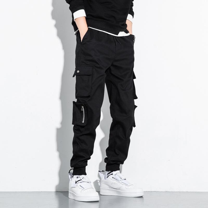 MISHUYA Autumn / winter 2020 pure cotton large work clothes casual pants men's loose legged Korean