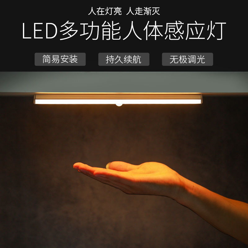Creative human body induction cabinet lamp magnetic suction strip induction lamp LED charging Nightl