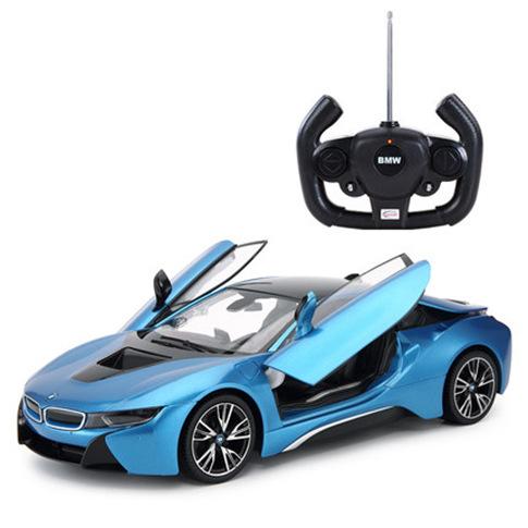 Rastar / Xinghui BMW I8 remote control car open door remote control car children's rechargeable rac