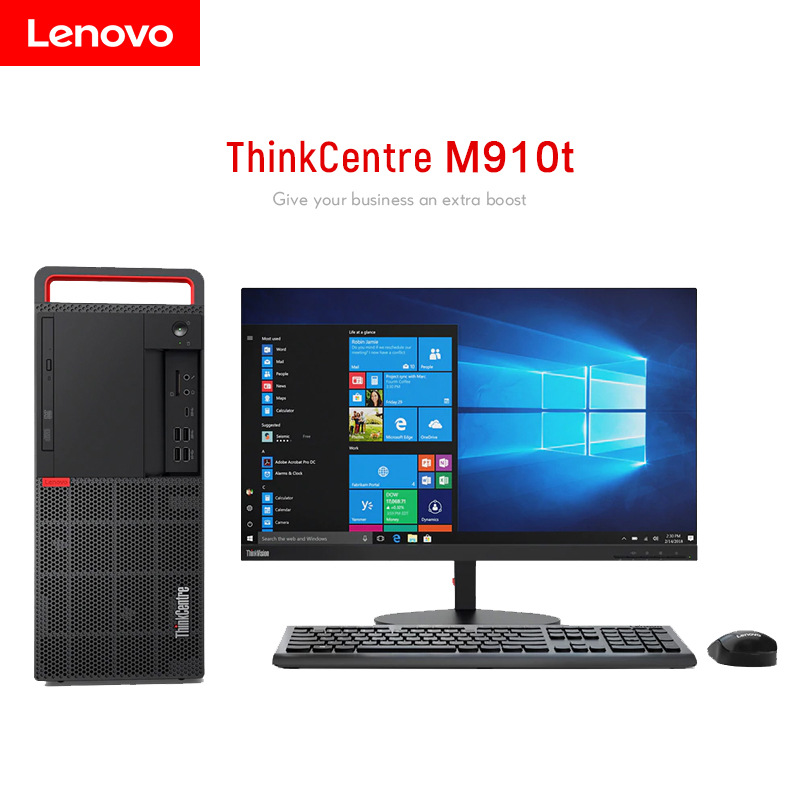 Lenovo ThinkCentre m910t commercial office desktop computer core i5 high performance desktop compute