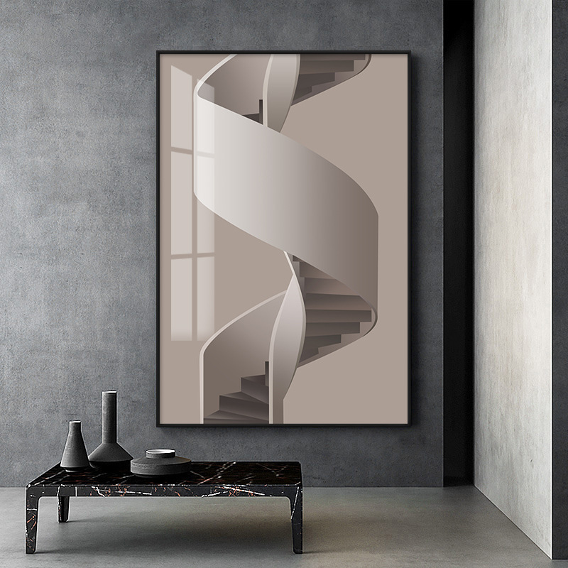 Modern simple porch Abstract hanging painting model room living room decorative painting building re