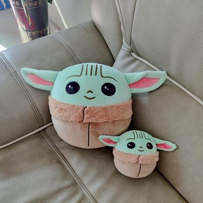 gối ôm Gối búp bê Yoda siêu đàn hồi cho bé Yoda đồ chơi sang trọng Star Wars xung quanh bé Yoda