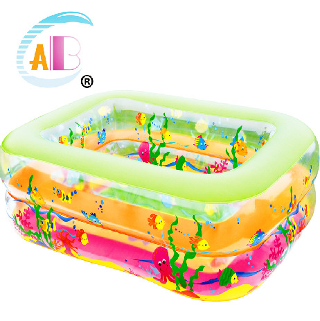 ABC small square two ring baby bath children's swimming pool