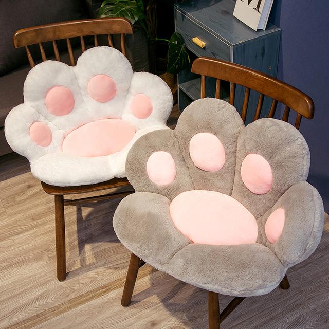 Cute bear's paw half surrounded cushion office chair cushion lazy one sofa cat claw student cushion