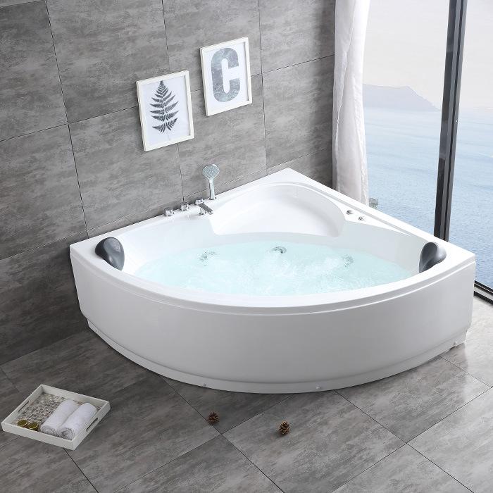 Bồn tắm massage acrylic độc lập nhiệt độ không đổi hình tam giác .