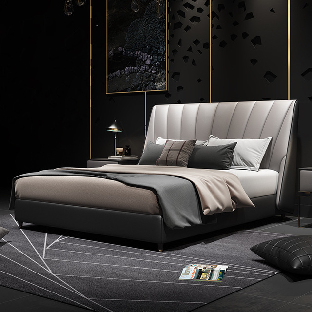 WANGHUI Modern simple 1.8/1.5m double master bedroom wedding bed