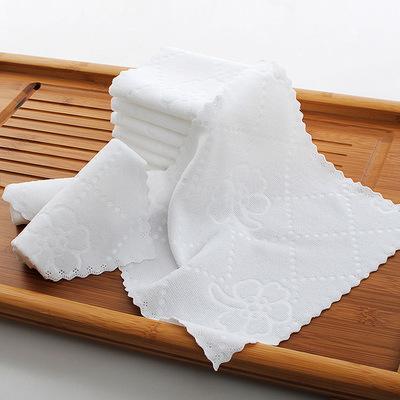 DAYECHUAN khăn lau tay Xưởng bán buôn khăn vuông 25 * 25 màu trắng cho nhà trẻ lau tay vuông khăn nh