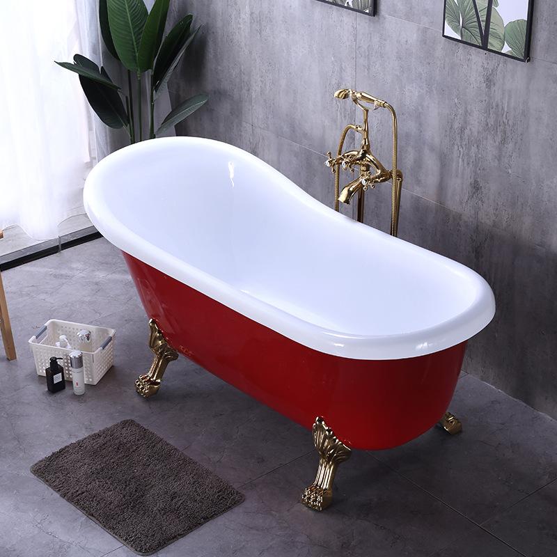 Bồn tắm cách nhiệt hai lớp acrylic kiểu dáng sang trọng .