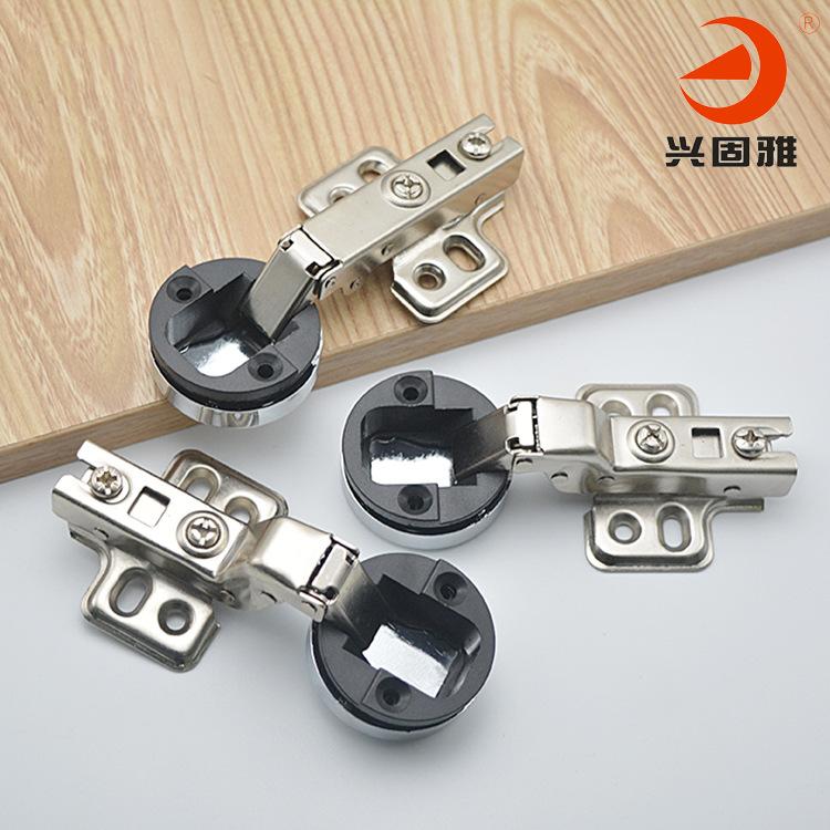 XINGGUYA Glass door hinge wine cabinet display cabinet silent hydraulic damping glass door hinge