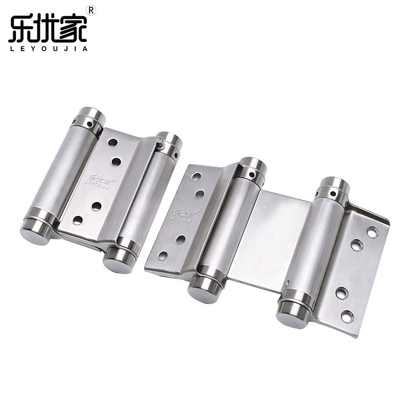 LEYOUJIA Stainless steel double spring hinge, two way inside and outside opening, automatic door clo