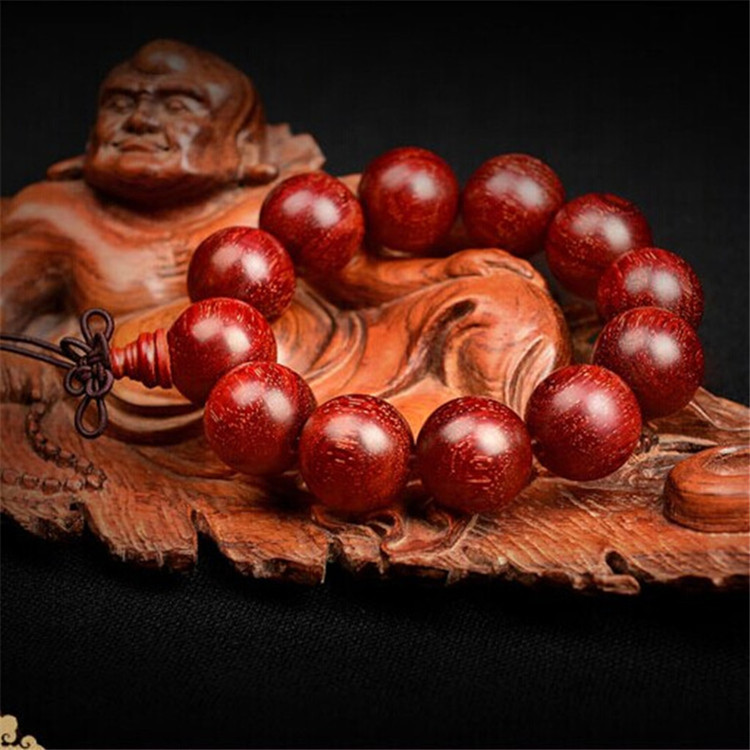 Indian 20 mm 12 small leaf red sandalwood hand string full of Venus wood men and women's writing an