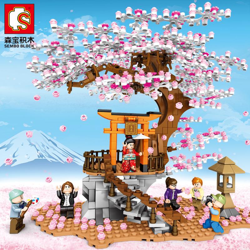 Senbao 601076 Architecture Series couple assembled building block children's boy girl puzzle small