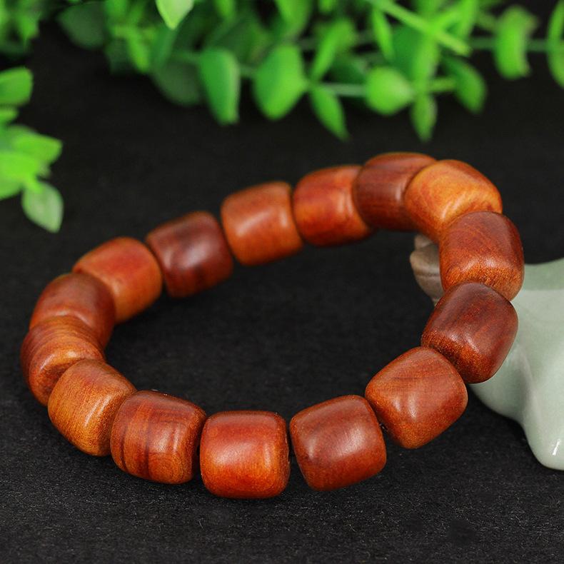 Indonesian blood dragon wooden bucket beads hand string wooden Buddha beads rosary beads fashion woo