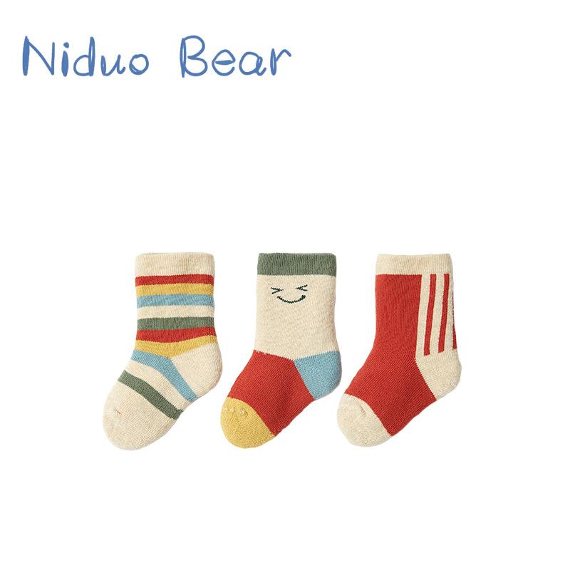 Nido bear baby socks winter thickened warm baby socks newborn Terry children's stockings autumn and