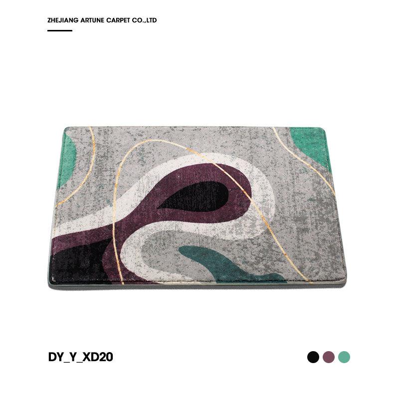 New modern simple floor mat rectangular geometric abstract bedroom door mat bedroom floor mat