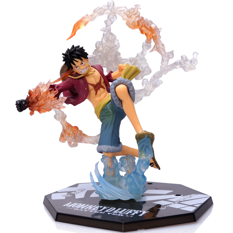 BOXUELUE Luffy hands on pirate king, navigation king, fire fist fighting version, car model, animati
