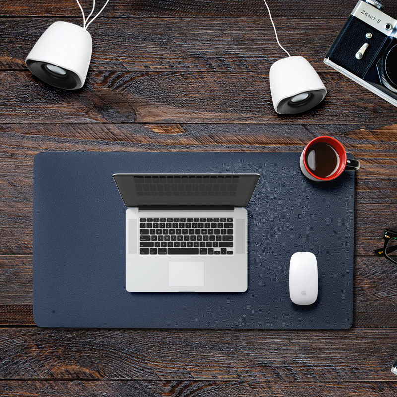 Suitable for keyboard, desk pad, customized leather mouse pad, large business multi-function desk pa