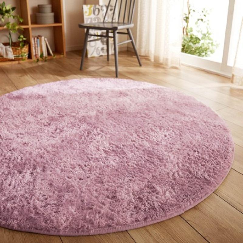 MANYI Japanese simple family living room tea table bedroom bedside Plush floor mat children's baske