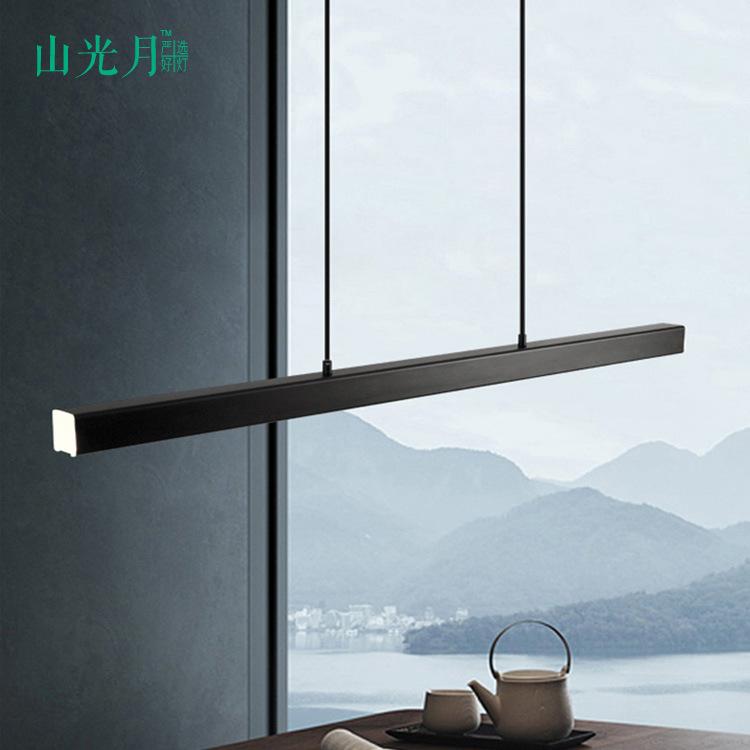 SHANGUANGYUE Nordic restaurant chandelier strip led creative indoor dining room bar modern minimalis