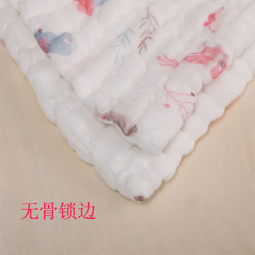 BEAUSUR Khăn tắm Logo tùy chỉnh cotton seersucker gạc khăn xuyên biên giới seersucker gạc khăn tắm 6