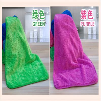 MANTANGHONG khăn lau tay San hô lông cừu dày khăn nhà bếp khăn lau tay hai lớp rửa chén loại treo lo