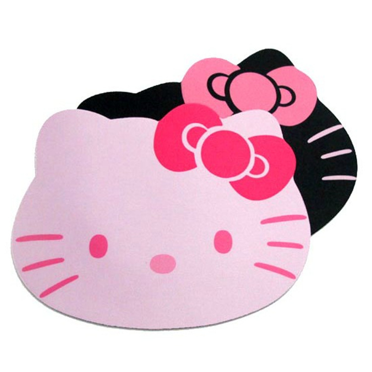 Kitty cartoon mouse pad cute girl silicone game computer office boy game soft mouse pad