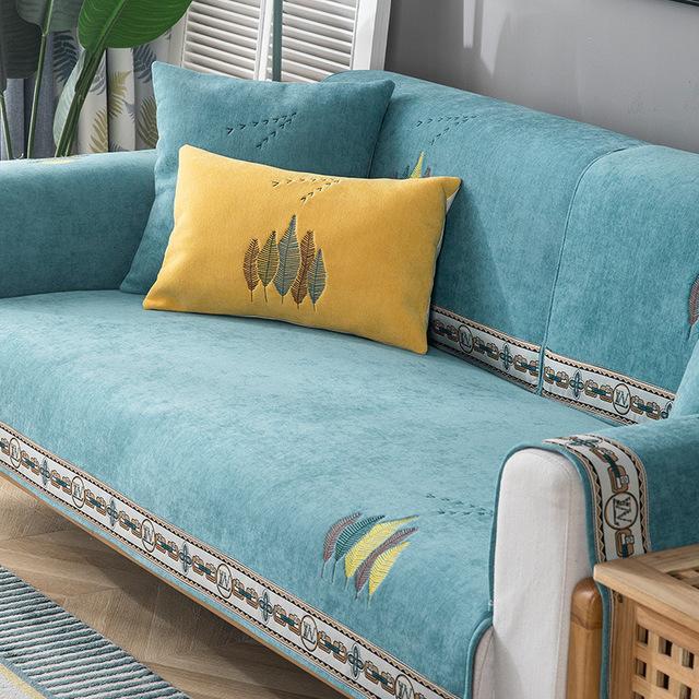 Chenille sofa cushion four seasons general non slip sofa cover all inclusive high grade cushion cove