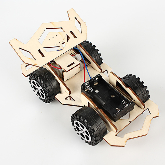 CHANGSAI Creative electric wooden racing primary school students science and technology small produc