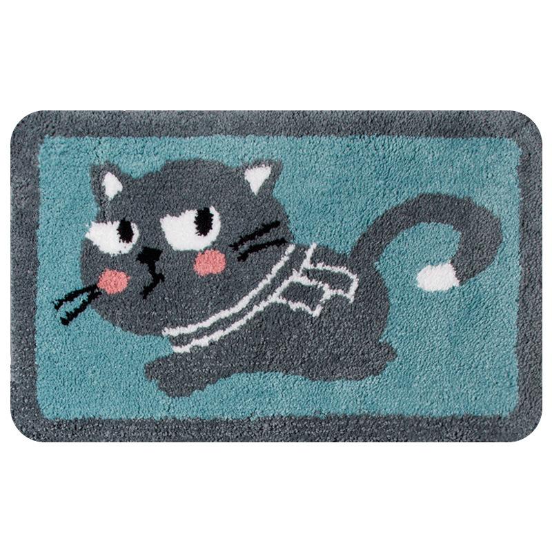 YIGENG Cartoon children's thickened floor mat plush carpet bathroom anti slip mat door mat bedroom