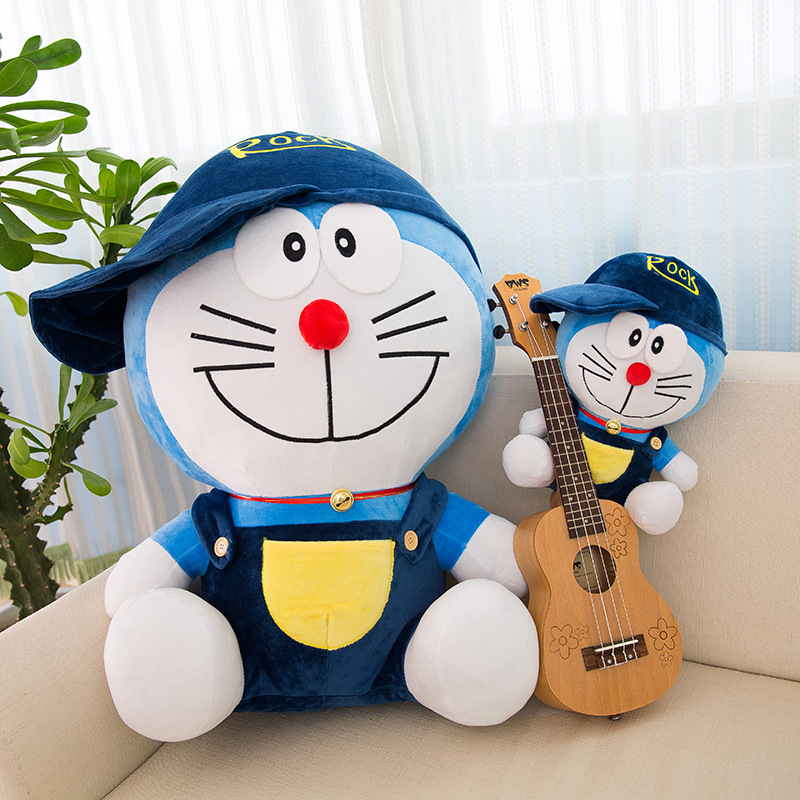 Creative wearing hat and dressing cat doll plush toys cartoon cartoon cartoon children cute doll pre