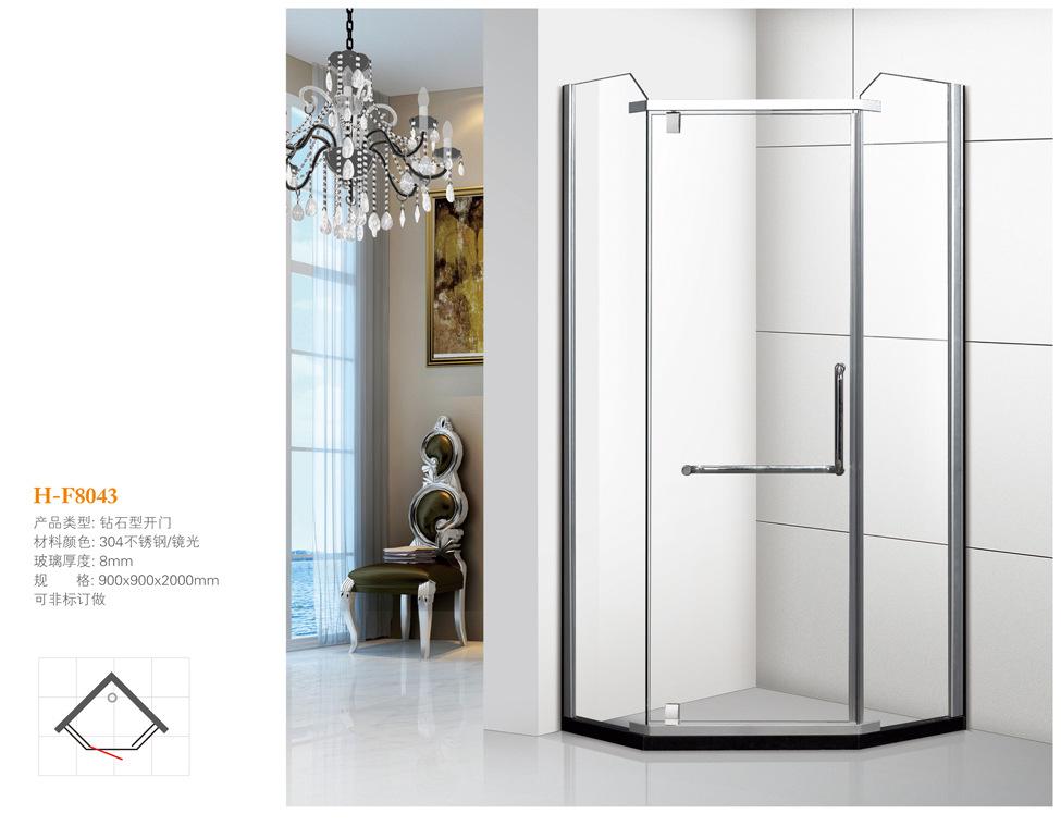 HONGDONG Simple diamond shaped stainless steel shower room