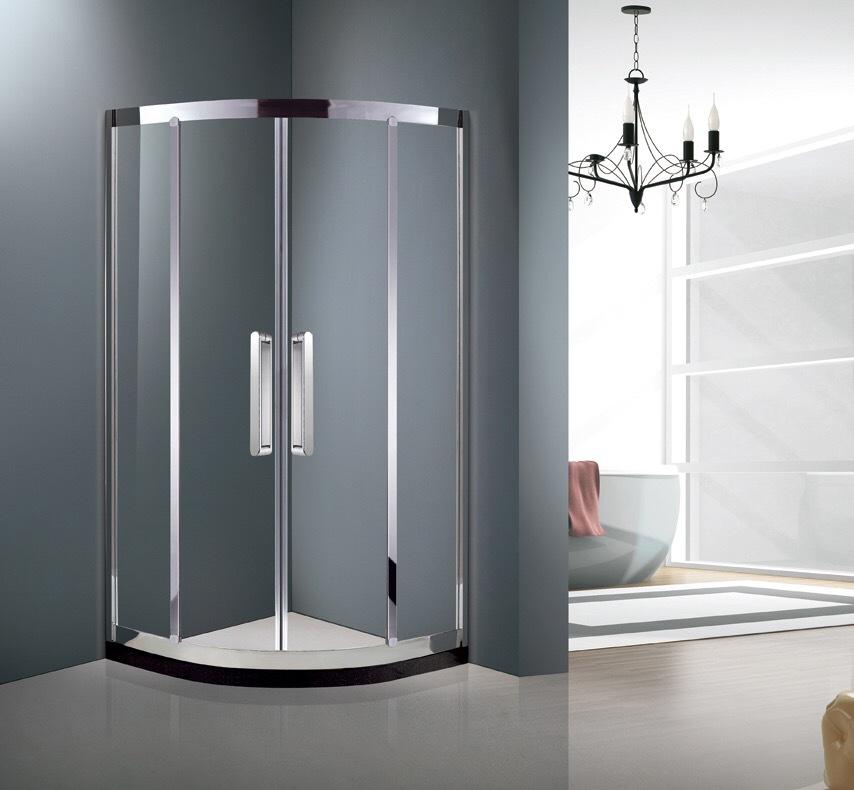 SHALEMAN Simple arc fan stainless steel shower room hotel sliding door shower room