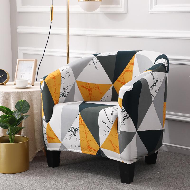 AOYOU European elastic all inclusive single sofa cover Internet Cafe Hotel guest room printed sofa c