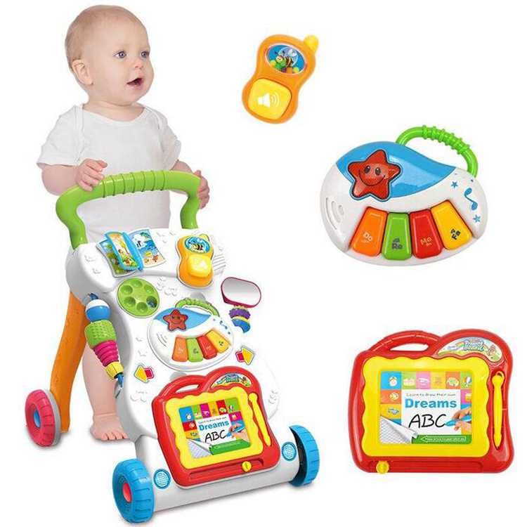 Baby toy Walker children's multi-function music puzzle game walking cart anti rollover