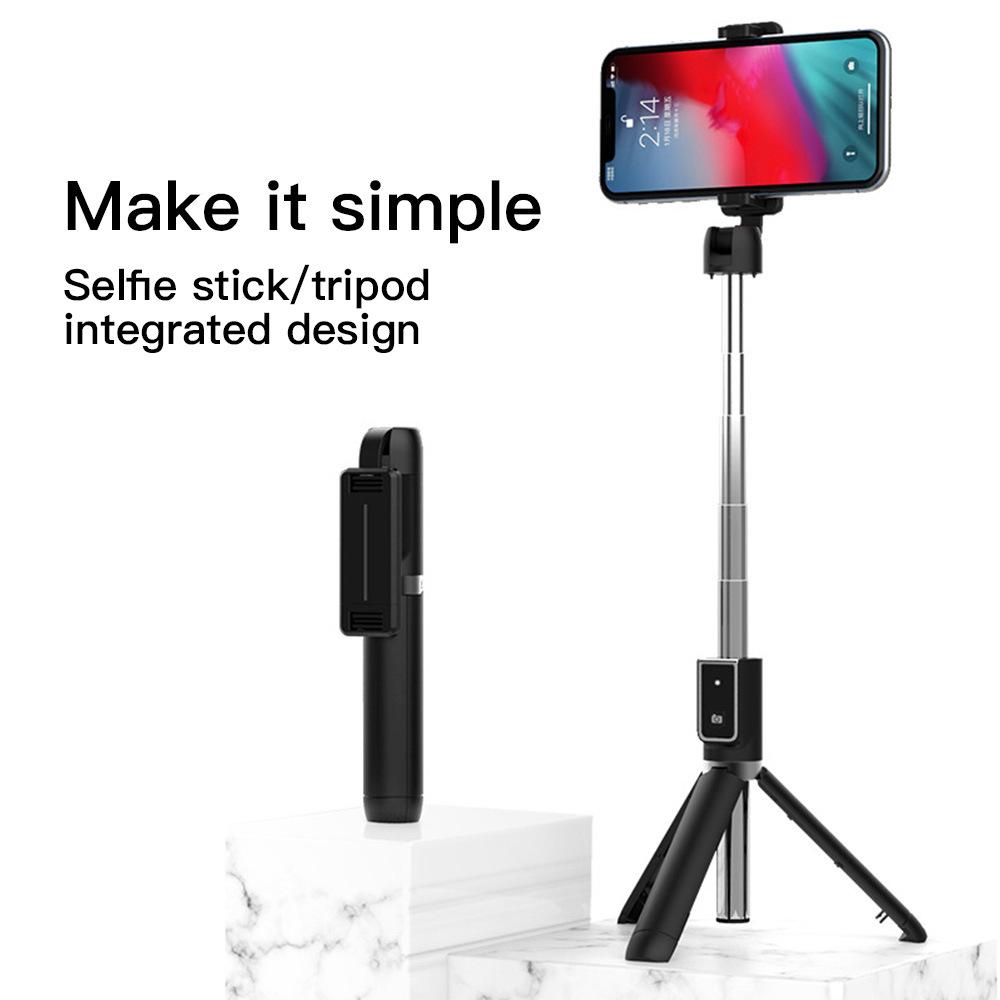 Tripod Bluetooth selfie stick beauty fill light live broadcast bracket multi function mobile phone s