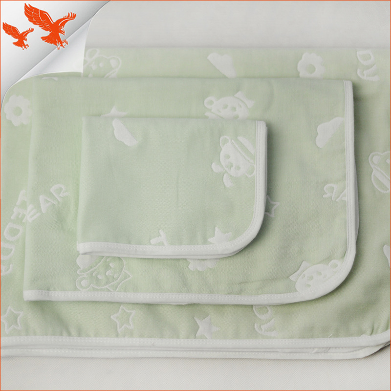 Four layer gauze baby diaper pad washable diaper pad