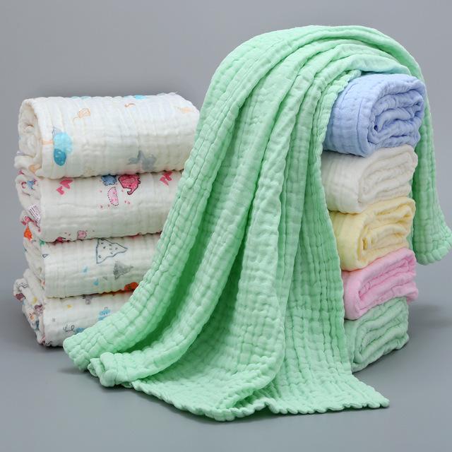 MIANXIAOYA Six layer cotton children's quilt type a baby bath towel seersucker Blanket Baby towel q