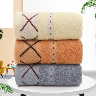 Khăn tắm Bán buôn kẻ sọc khăn tắm bông người lớn nam và nữ khăn lớn thấm hút gia dụng mềm mại quấn k