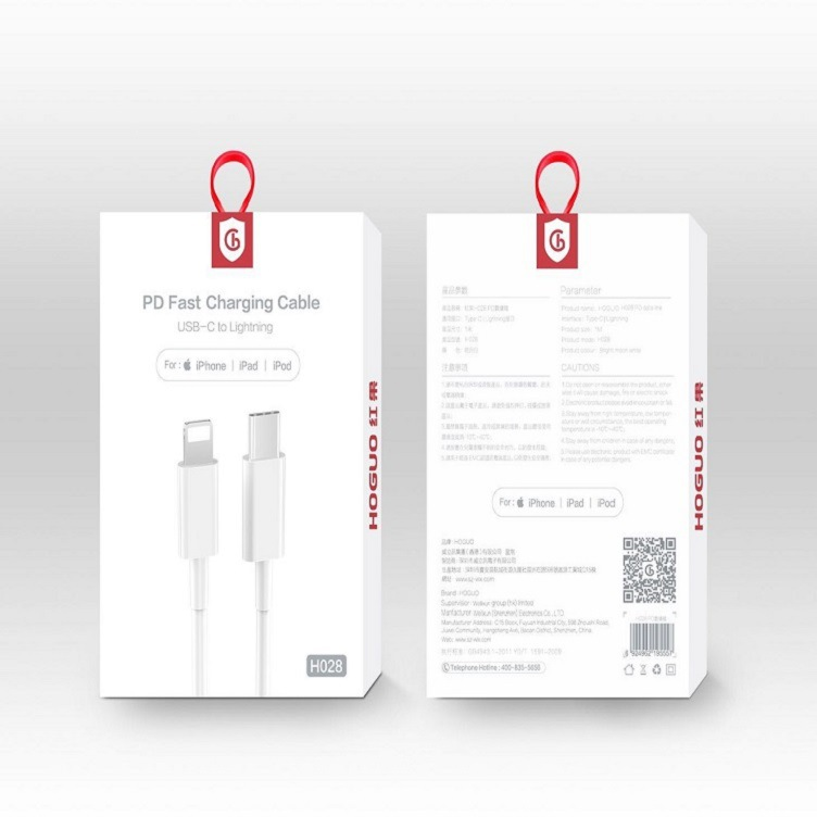 Hongguo h028 data cable is suitable for iPhone 11 xsmax18w PD data cable
