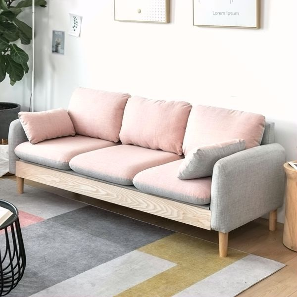 JITASI Nordic modern simple fabric sofa small family living room single apartment double furniture