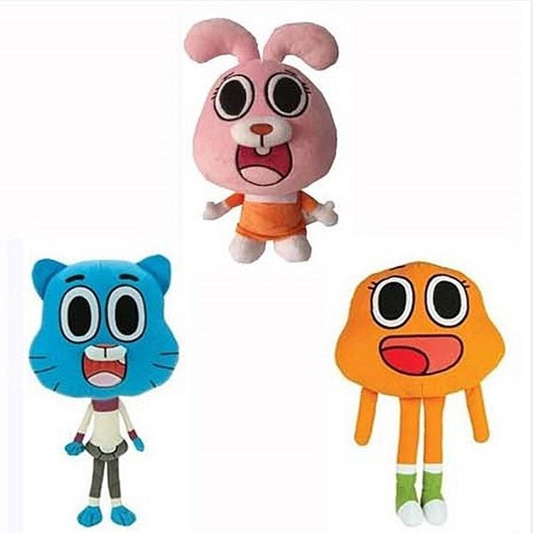 DILEQI Gumball Gumball, cartoon doll of Forrest Gumball world, children's cartoon plush toys