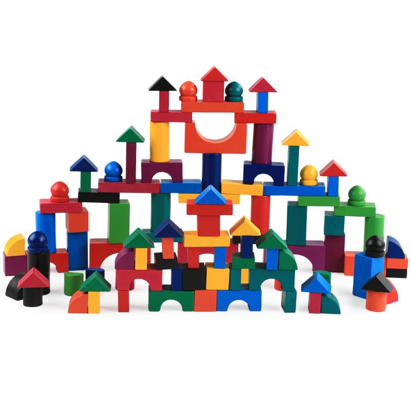 WODI Customized wadi wooden 112 color building blocks kindergarten children's early education educa