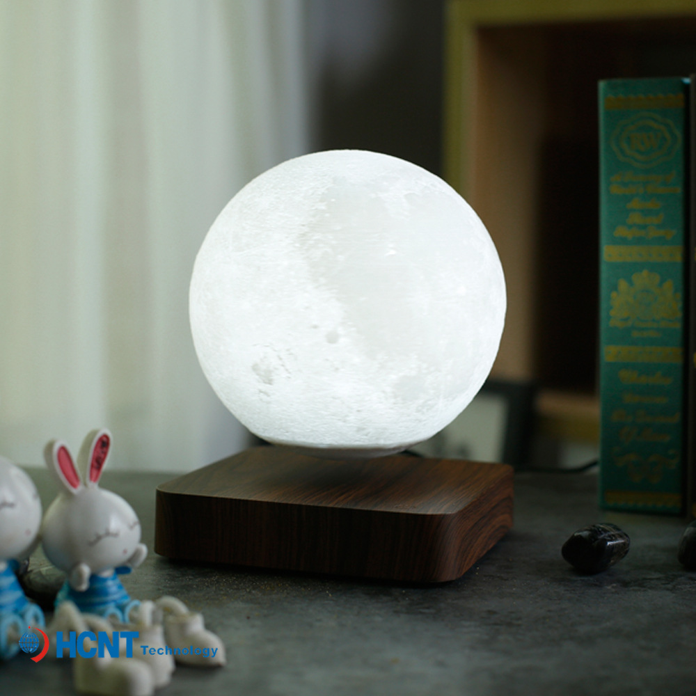 HENGYI Customized 3D printing of floating moon light, creative smart magnetic floating moon light ho