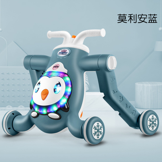 YINGJUE Penguin new baby walker cart three in one baby walker anti rollover