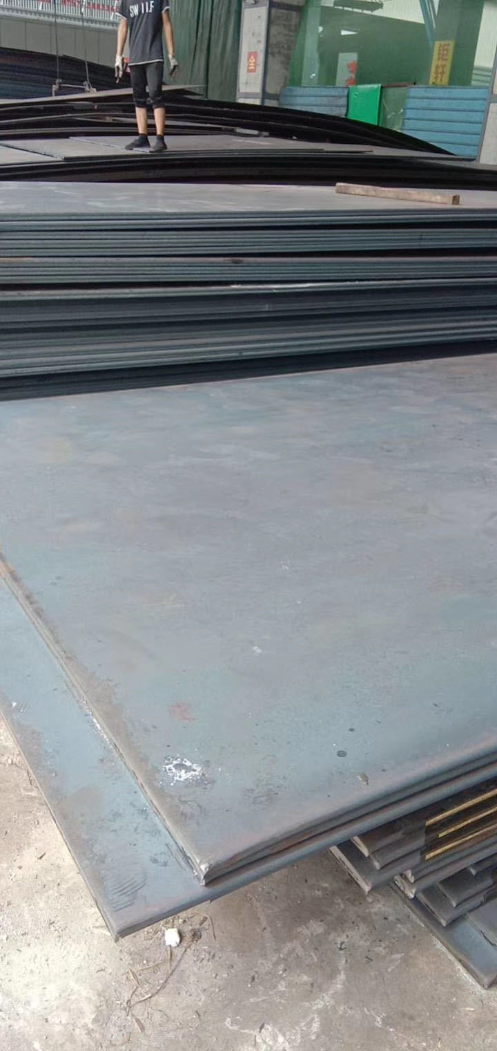 Steel plate and stainless steel plate in steel plate building structure